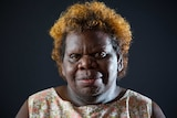 A portrait of aunty Crystal Love from the Tiwi Islands.