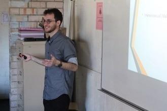 Matt Friedman giving a presentation