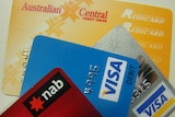 various credit and ATM cards