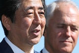Shinzo Abe and Malcolm Turnbull meet in Sydney