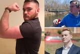 Three men composite