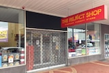 A sign outside The Reject Shop in Moonah