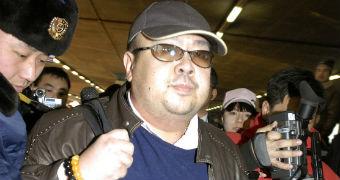 Kim Jong-nam, eldest son of then North Korean leader Kim Jong-il, is seen at Beijing airport in 2007.