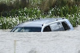 Submerged four wheel drive in a lake at Wyndham Vale in 2015