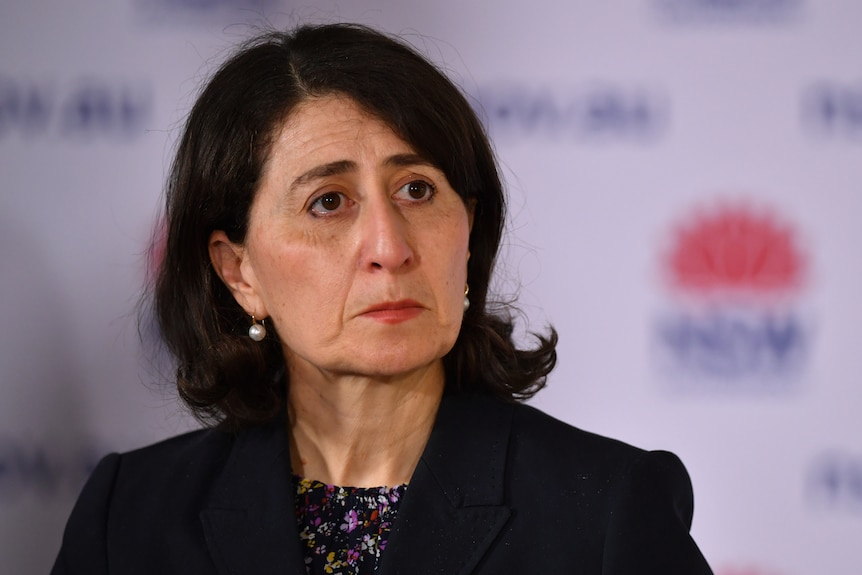 Gladys Berejiklian addresses the media.