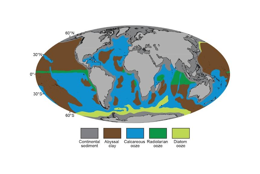 Old seafloor map