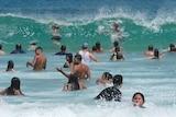 Swimmers at Bondi Beach