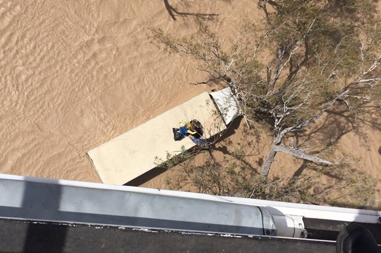 Truck driver trapped