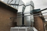 Waikerie Hospital air conditioning ducts