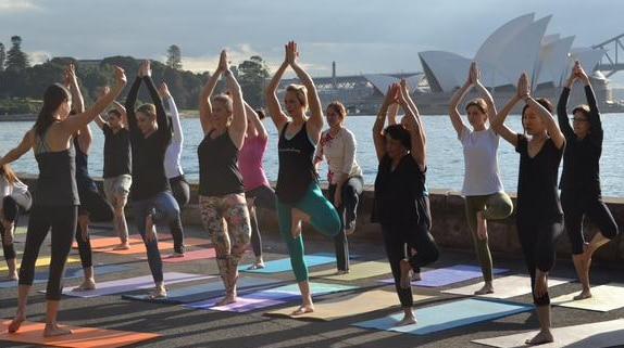Yoga session in Australia
