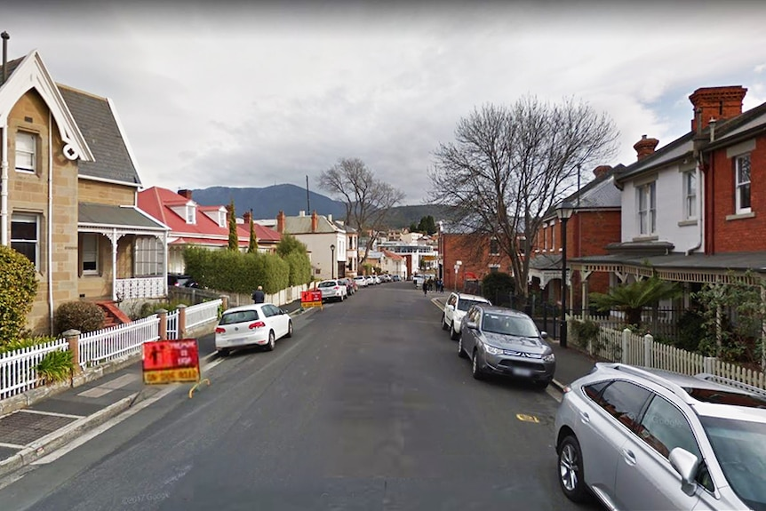 A street in Battery Point, Hobart.