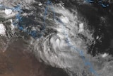 Satellite view of Queensland under ex-Tropical Cyclone Owen.