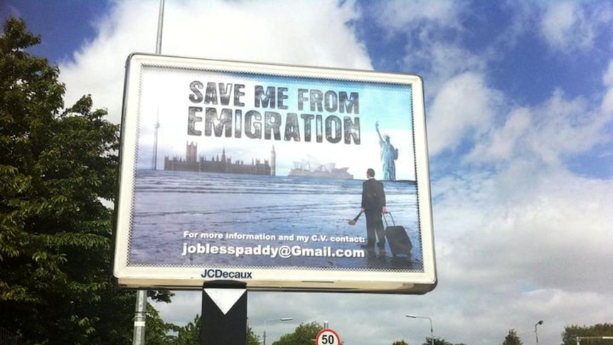 Jobless Paddy's billboard in Ireland