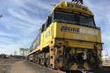 The front of a Pacific National freight train.