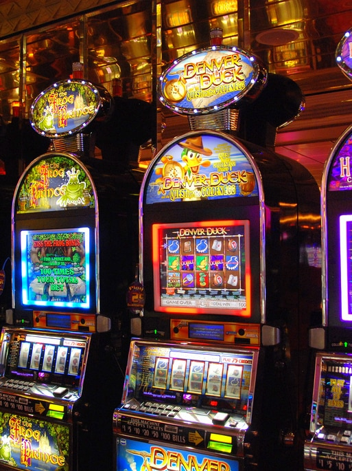 A row of poker machines