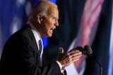 President-elect Joe Biden delivers his victory speech.