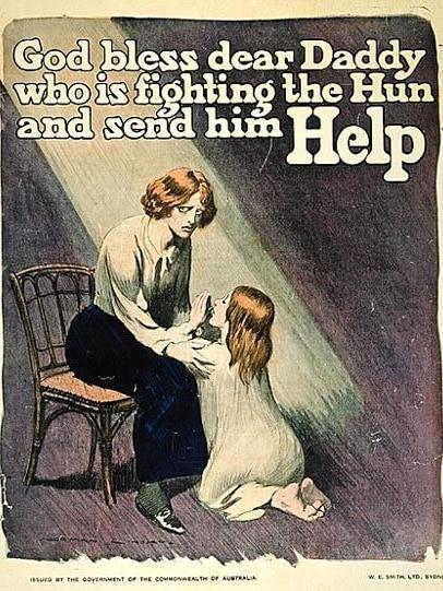 Yes campaign poster from 1916 conscription plebiscite debate