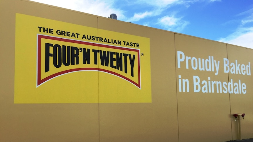 Patties sign at food manufacturing plant