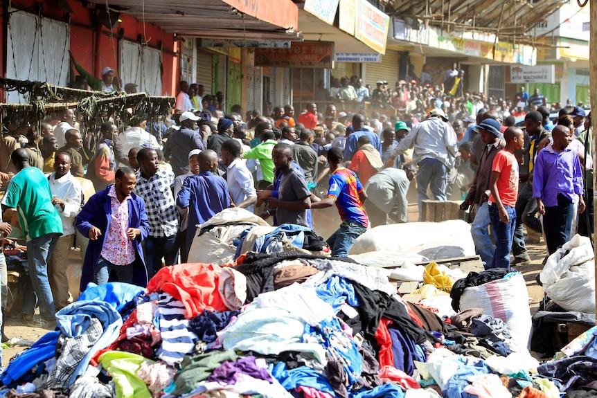 Scene of twin blasts in Nairobi