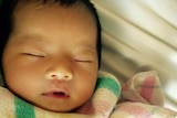 Two-month-old baby girl Queenie Xu