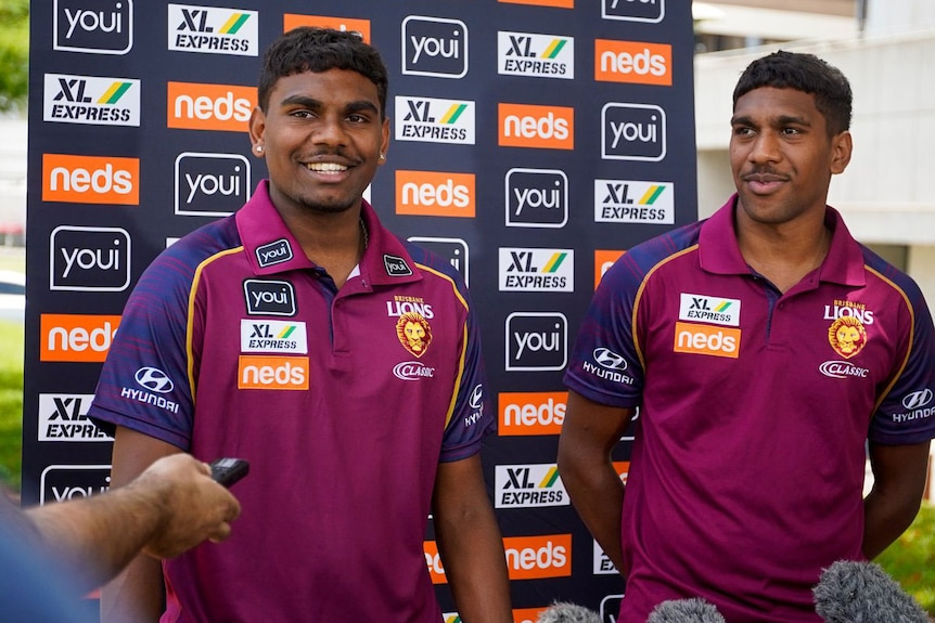 Brisbane Lions AFL players, brothers Blake and Keidean Coleman.