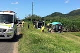 Bus rollover at Cannonvale in north Queensland