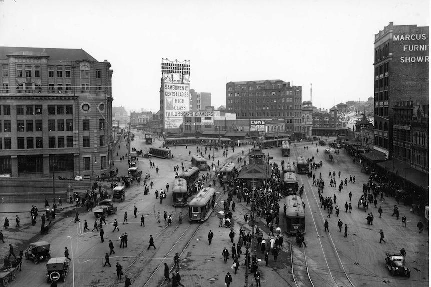 Railways Square in the 1920s