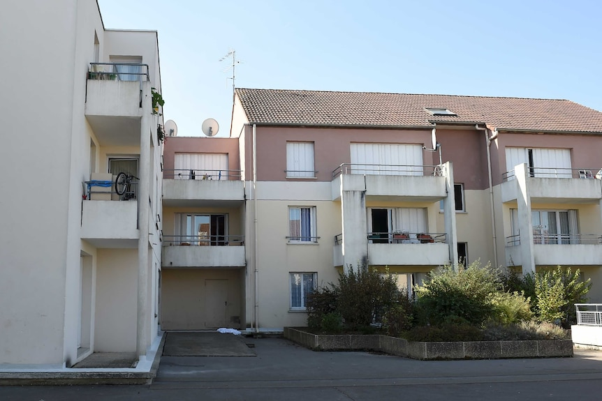 A row of houses in a neighbourhood where police picked up suspects in Chalette sur Loing, near Montargis.