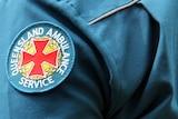 Queensland Ambulance Service officer on a job.