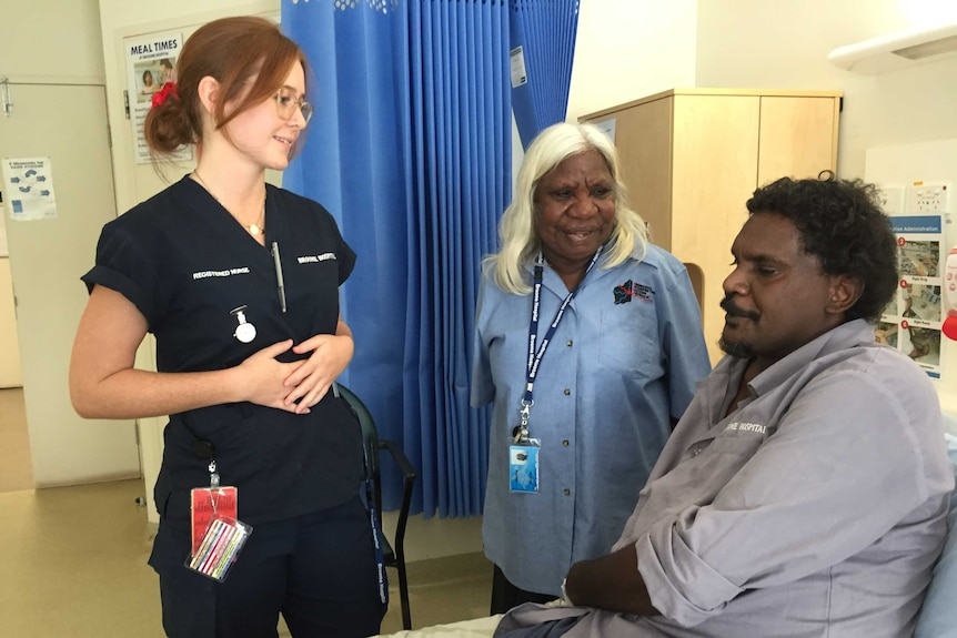 Interpreter Martina Badal helps medical staff and patients communicate.