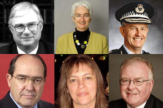 Six commissioners of a royal commission into child sexual abuse