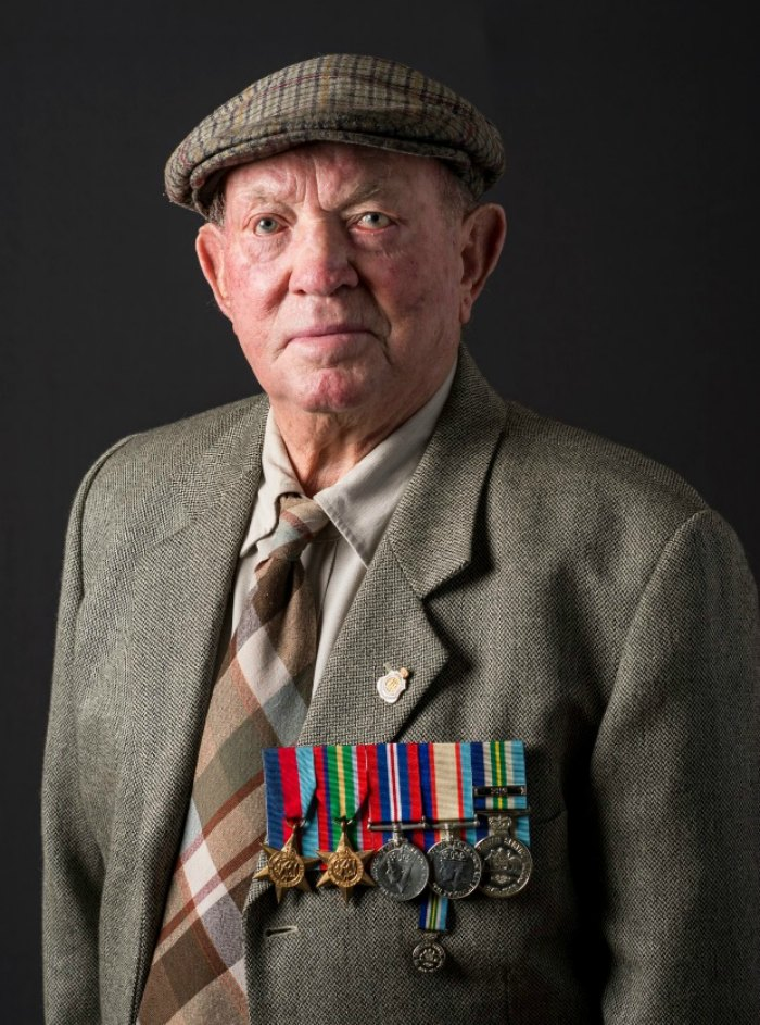 Veteran William Pressnell served during WWII.
