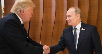 Trump and putin shake hands ahead of G20