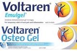 Voltaren Osteo gel and Voltaren Emugel.
