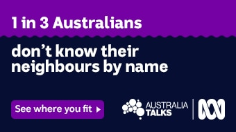 Text reads: One in three Australians don't know their neighbours by name.