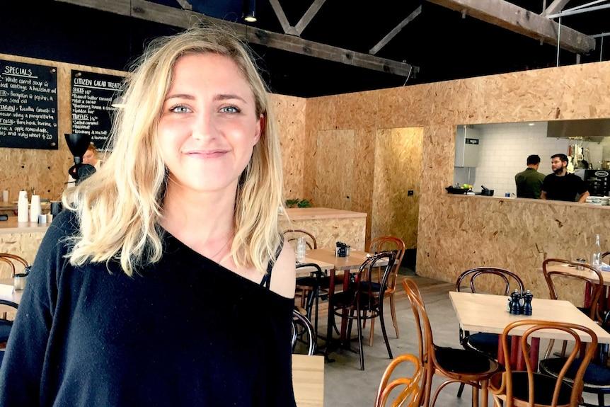 Hamlet Cafe owner Emily Briffa