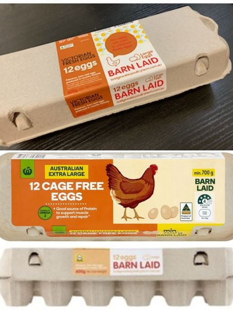 Three cartons affected by the egg recall.