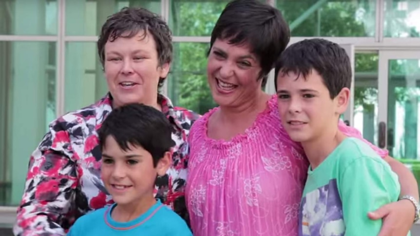 A still image from the documentary Gayby Baby