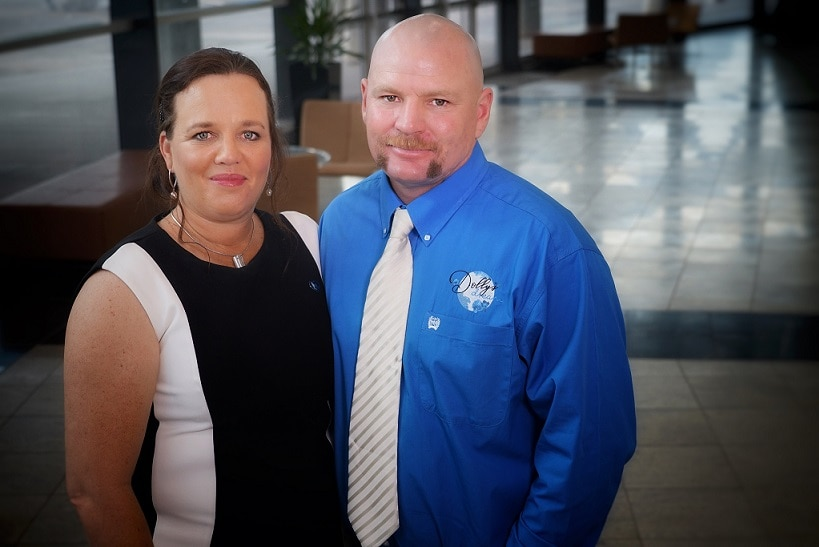 Kate and Tick Everett at the NT Australian of the Year Awards on November 7, 2018.