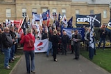 Unions protest anti-protest bill in Hobart