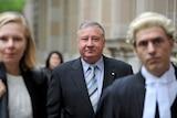 Former AWB chairman Trevor Flugge outside court