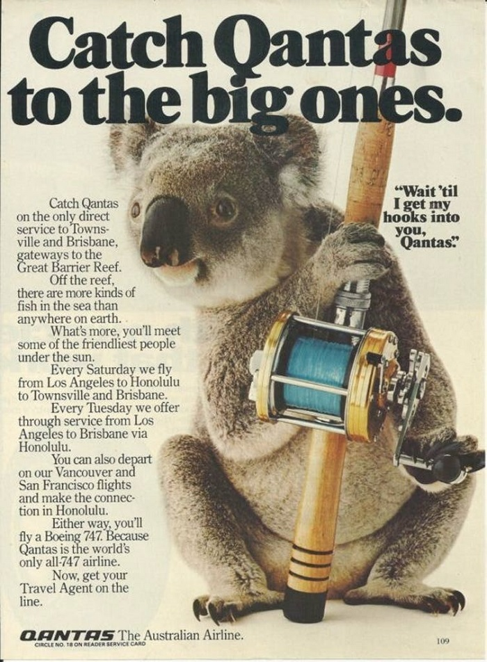 A 1981 Qantas advertisement, published in American magazines.