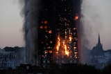 Landscape fire of ripping through Grenfell Tower