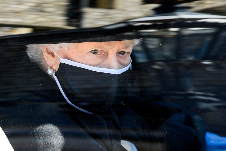 Queen at Prince Philip's funeral