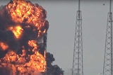 SpaceX Falcon 9 rocket explodes on launch site at Cape Canaveral.