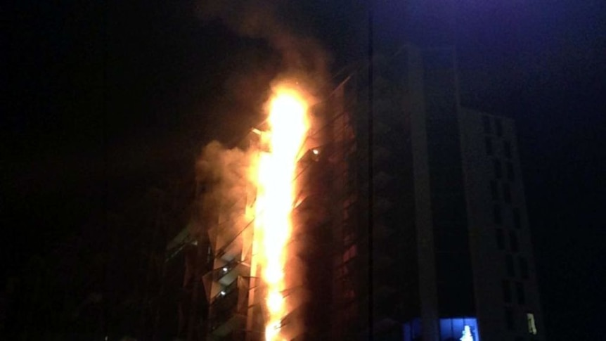 The Lacrosse apartment building caught fire in 2014
