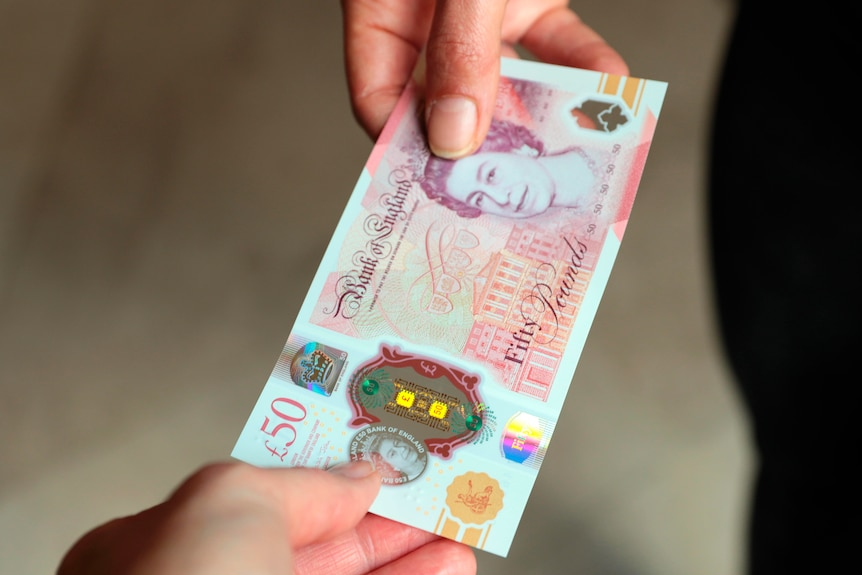The UK's new 50-pound note.