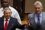 Cuba's President Raul Castro and First Vice-President Miguel Diaz-Canel.