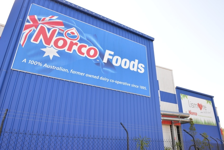 outside of Norco ice-cream factory in South Lismore