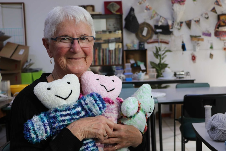 Gloria with bears